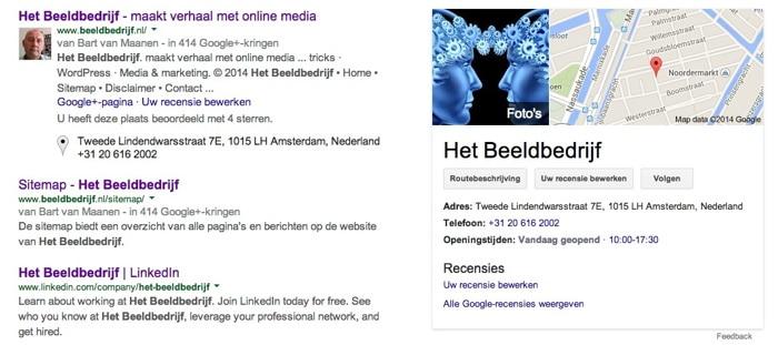 Het Beeldbedrijf via Google Search