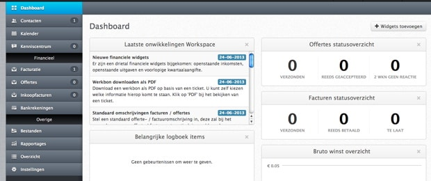 administratie cloud software van Workspace
