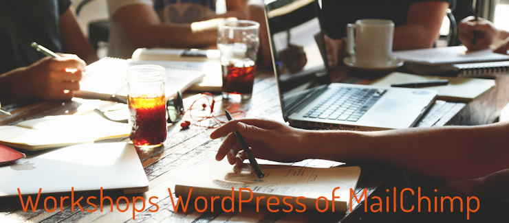 workshop over WordPress of MailChimp