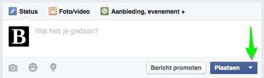 Berichten inplannen op Facebook